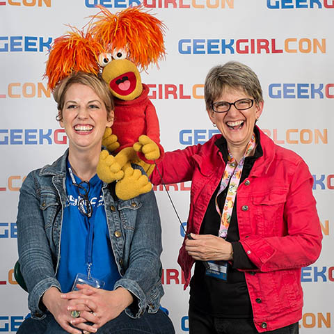 Karen Prell and Red Fraggle, The Career of a Muppeteer, interviewed by Jennifer K. Stuller at GeekGirlCon, 2013