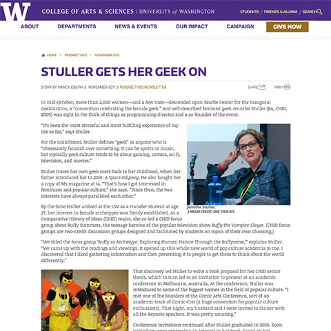 Media profile of Jennifer K. Stuller