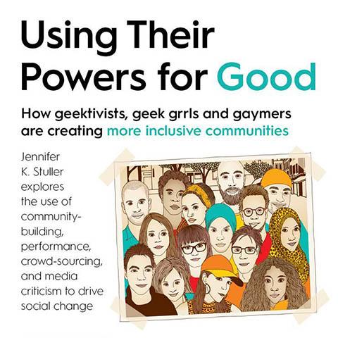 Advertisement for a talk by Jennifer K. Stuller for Humanities Washington