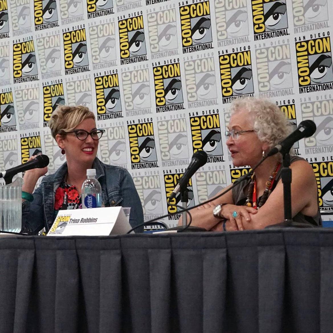 Jennifer K. Stuller interviews Trina Robins at Comic-Con 2016